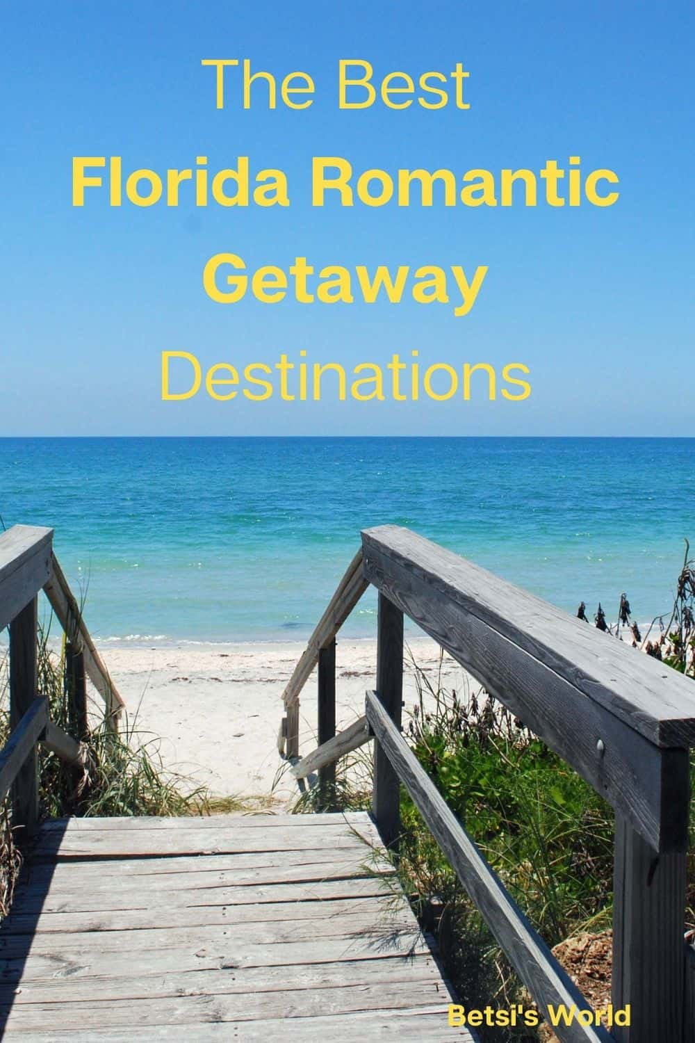 These top five romantic #Florida getaways will have you packing your bag! With fresh air, water sports, beaches, great food, shopping, and more, these are our favorite romantic getaways in the Sunshine state. #Floridavacation #romanticgetaway #Floridagetaway
