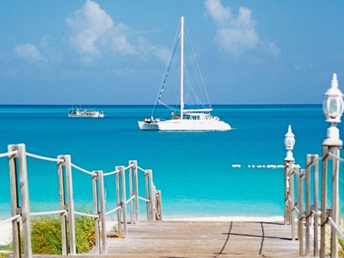 Take a romantic boat trip out into the gleaming turquoise waters of the Turks and Caicos on your romantic vacation
