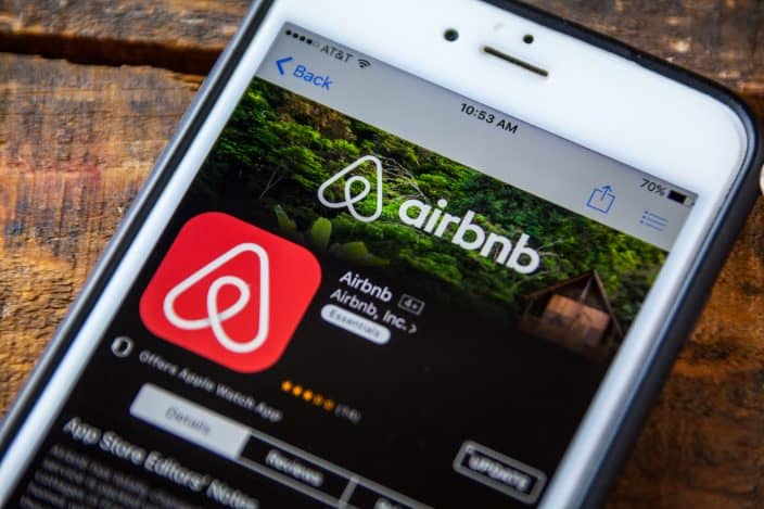 air bnb app on an iphone a great tool to book your next vacation rental