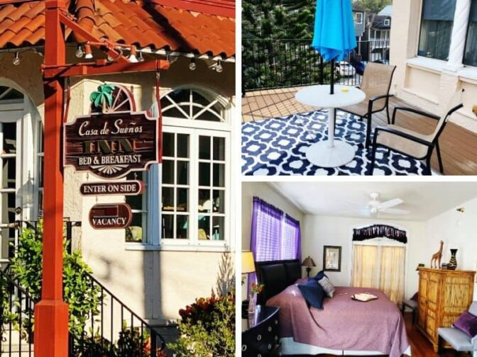Casa de Suenos Bed & Breakfast is in the heart of St. Augustine, and is a wonderful lodging choice for a St. Augustine coastal holiday getaway.