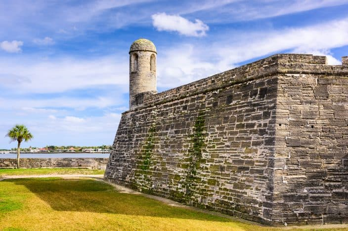 St. Augustine, Florida at the Castillo de San Marcos National Monument, an example of something to do for Mother's Day