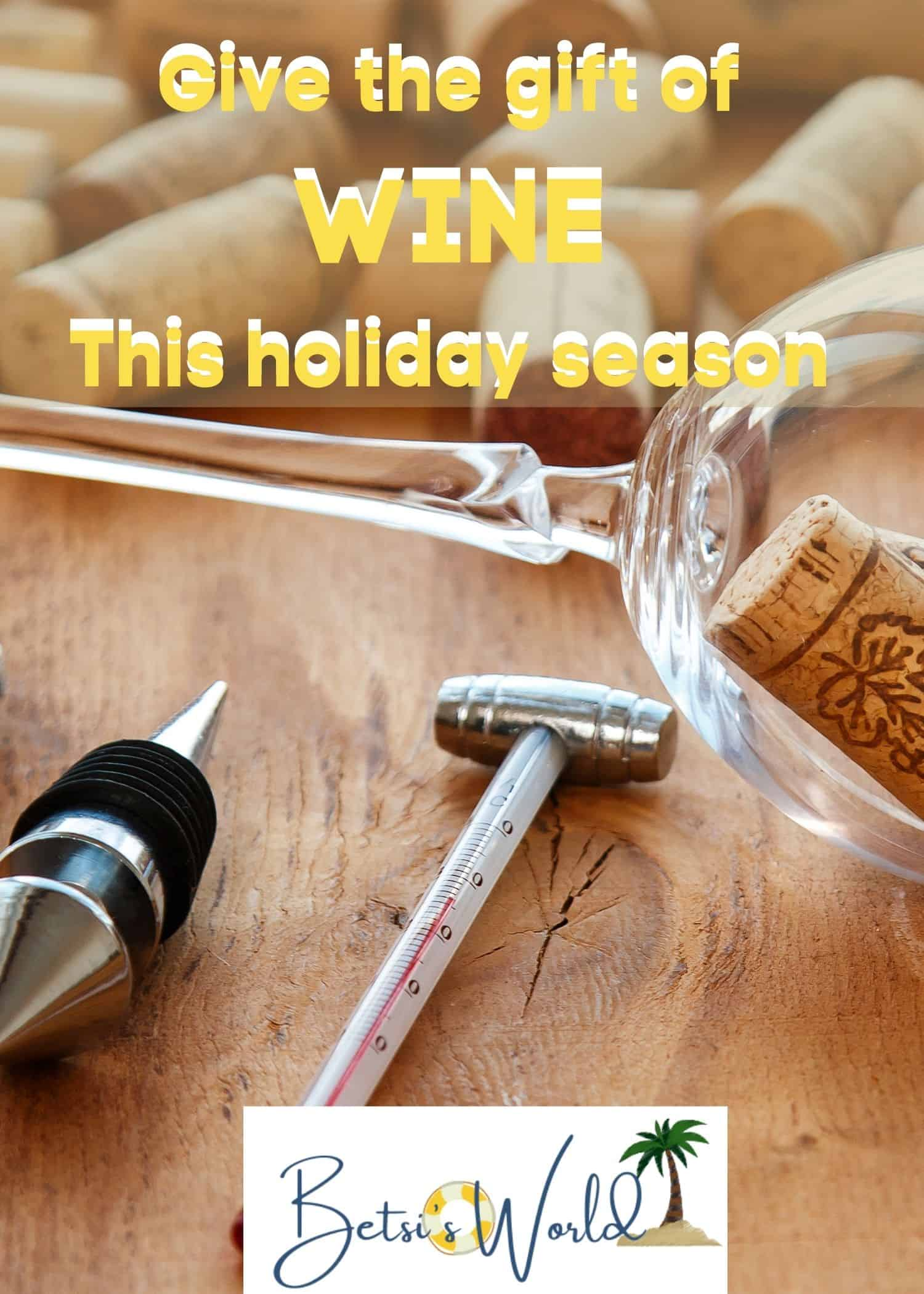 Gifts for Wine Lovers make the ideal holiday gift. Here are top picks for the wine lovers on your list this holiday season. #christmas #christmasgiftlist #giftsforwinelovers
