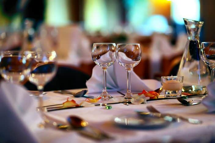 a romantic restaurant with wine glasses a great idea for a romantic getaway in central florida