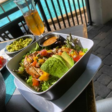 Salmon salad at The Rosen Plaza's 39 Poolside restaurant