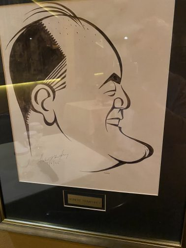 caricature from Jacks Place at The Rosen Plaza hotel