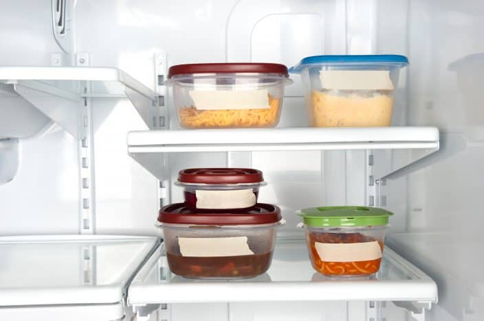 leftovers in the fridge, a tip for saving money