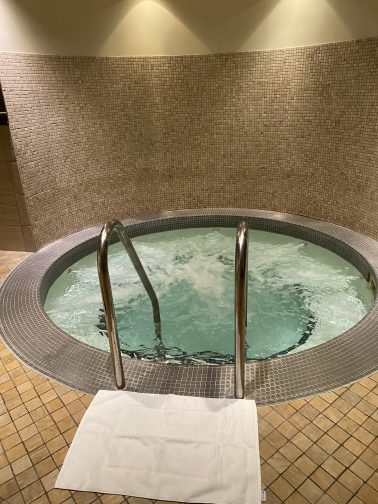 soak your cares away in the hydro spa at Shingle Creek Spa