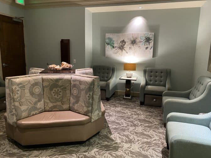 The relaxation room for ladies at Shingle Creek Spa