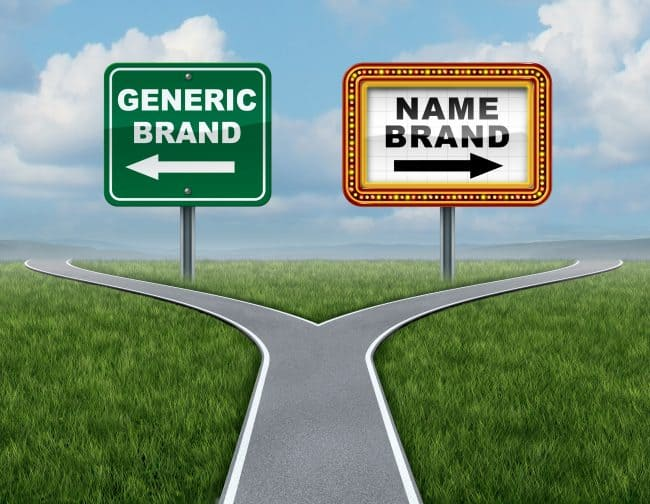 generic brand versus a name brand, choose the generic brand to save money