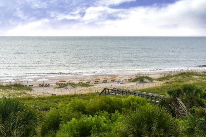 Beach on Amelia Island in Northern Florida along the Atlantic Ocean, the perfect place for a Mother's Day weekend getaway