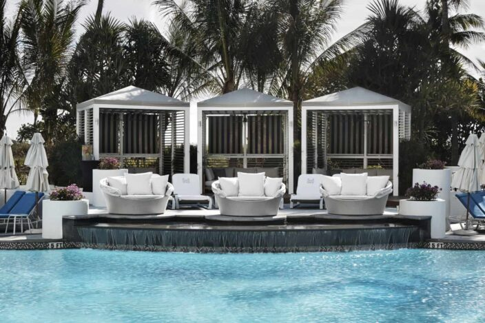 the lowes poolside cabanas, a great place for a romantic weekend getaway