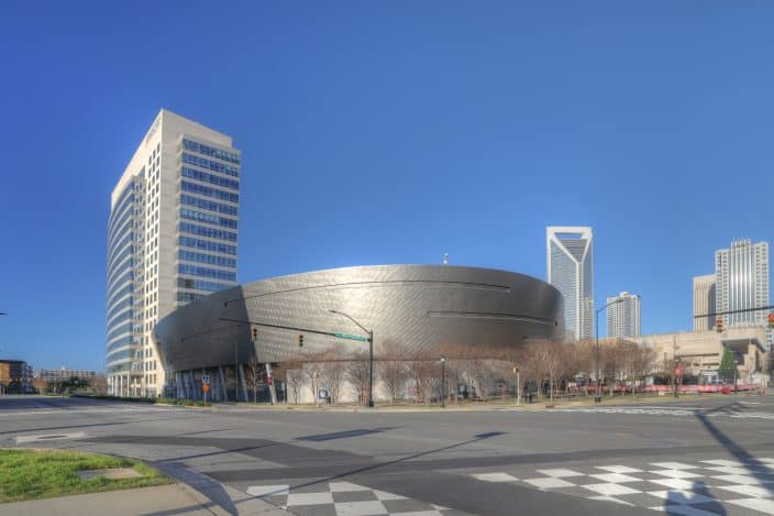The Nascar Hall of Fame building, one of the best things to do in Charlotte, North Carolina