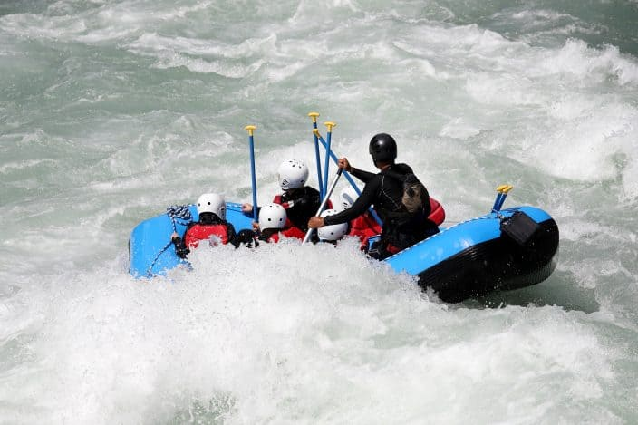 white water rafting at the US National White Water Rafting facility, an example of an outdoor adventure vacation