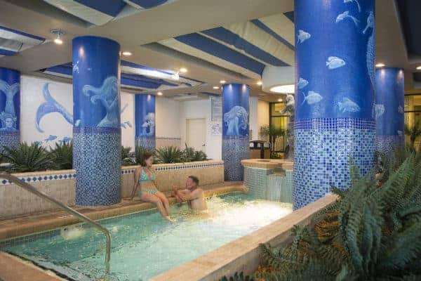 indoor pool at Coral Beach Resort and Suites in Myrtle Beach, South Carolina