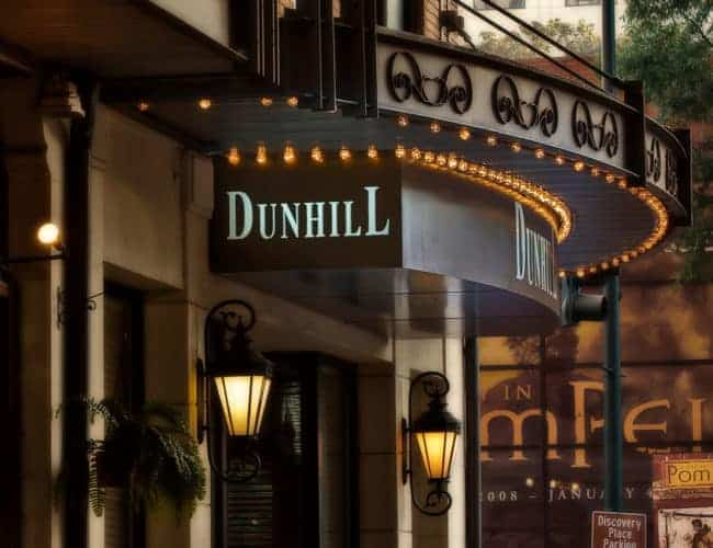 The exterior of the Dunhill hotel in Charlotte, NC