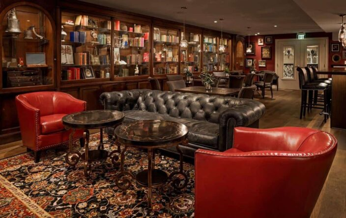 The Library Room at the Ivey's hotel in Charlotte