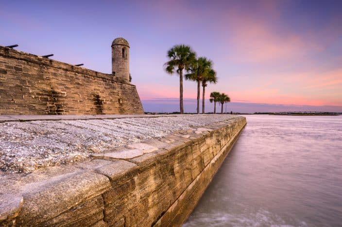 St. Augustine, Florida at the Castillo de San Marcos National Monument, a day trip destination from Orlando